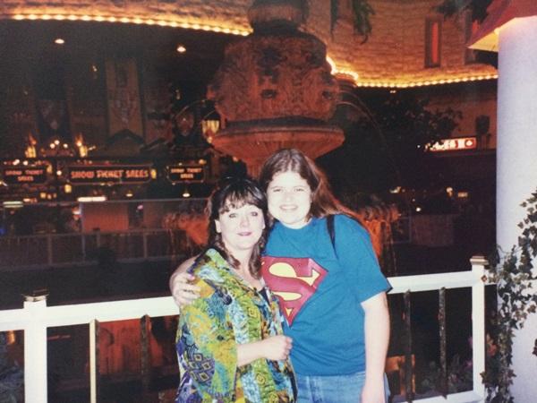 em uma viagem para Las Vegas , com a tia da excursao